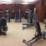 Fully equipped gym.