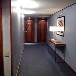 Corredor de acesso aos quartos.