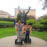 The Rocky Statue in front of the Philadelphia Art Museum
