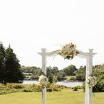 A wedding trellis at By the Bay