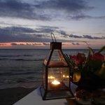 sunset dinner at Sudamala
