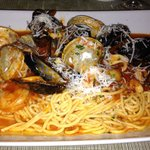 Seafood pasta delicious!