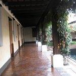 Corridor in lap pool area