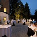 Reception event on the veranda