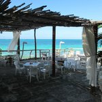 Restaurant overlooking the beach