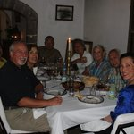 Our group dining at Villa Maroc.