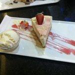 Strawberry cheesecake!! Yummy!
