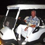 Golf carts available for transport within the resort