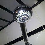 alcachofa de la ducha con cal