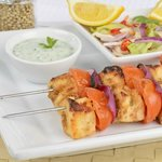 Paneer Tikka with mint chutney