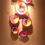 Blown Glass Display in Library