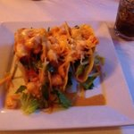 very yummy shrimp tacos. served as an appetizer but could be a meal!