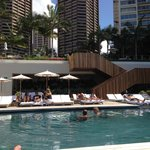 Great lounger area around Pool