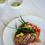 Wild grilled salmon