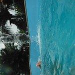 A piscina eh boa e bonita
