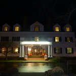 the front of the inn at night