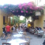 This is what you can find through the alleys behind the hotel! Beautiful and cheaper restaurants