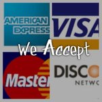 We do accept credit cards
