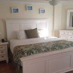 Main room king bed