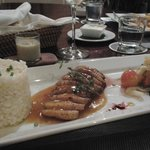 duck with risotto