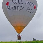 Our will you marry me balloon