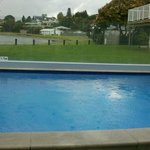 Pool across to front of lake Taupo