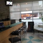 Bar and breakfast area, chairs for 4 people.