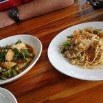 pad lao and lemongrass chicken