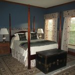 One of the lovely rooms at the McCloud Hotel