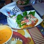 Lobster Salad, Lobster Bisque, Prescott Brewery Beer