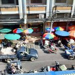 view from the top of the local market eating court