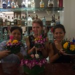 Staff at Cello hotel joining in with the fun - Loi Krathong, Thailand's 'festival of lights'.