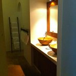 the vanity/changing and toilet area...
