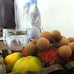 love the fresh local fruits given