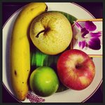 Fruitplate in the room