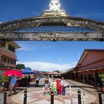 at Jesselton Point, buying tickets and renting snorkel apparatus