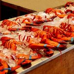 The lobsters in the shop