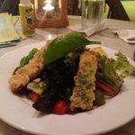 Haloumi crusted salad! yummmm