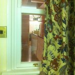 the window to the interior of the hotel!