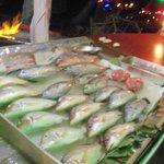 морепродукты на пляже
