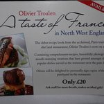 Olivier Troalen, the head chef, has published a book. £20.