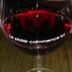 O vinho estava fresco e muito bom!