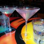 Blood Drop Martini and Passionapolitan...Mmmmmmm!