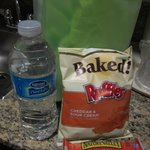 Some snacks and water