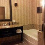 Luxrious... marble floor, soaking tub, spa toiletries