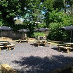 The lovely beer garden