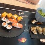 Sushi en pizarra