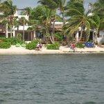 View of La Perla del Caribe from the dock