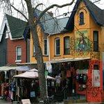 Schöne bunte Häuser