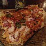 Pizza (partially eaten)